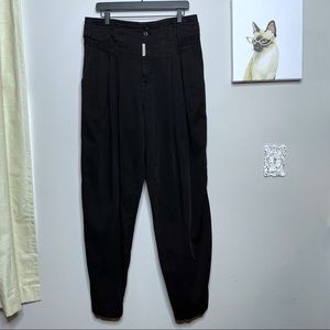 Z Cavaricci Vintage 90's Black Cateye Pleated Pant